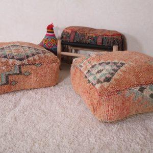 Berber pillow, Ottoman pouf , Moroccan pillow cover, Square Pouf OTTOMAN PILLOW, Deal for 2 items