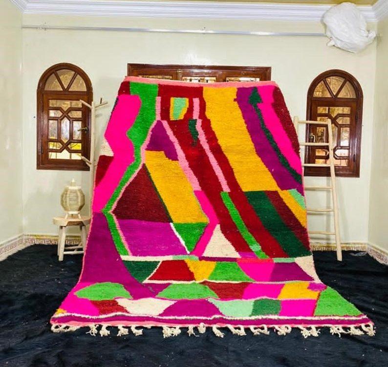 Amazing Moroccan Rug, Purple Boujad Rug, Azilal rug, Abstract Rug, Authentic Carpet, Handmade Rug, Berber Rug, Bohemian rug, Teppish MarokkoAmazing Moroccan Rug, Purple Boujad Rug, Azilal rug, Abstract Rug, Authentic Carpet, Handmade Rug, Berber Rug, Bohemian rug, Teppish Marokko