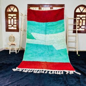 Fabulous Moroccan rug, Boujad Rug, Azilal rug, Abstract Red Carpet, Handmade Old Moroccan Rug, Berber Moroccan carpet, Bohemian rug