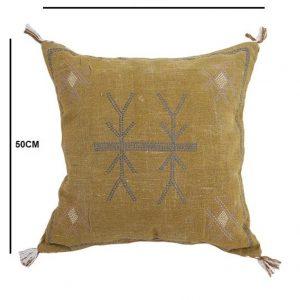 Cactus Silk Inspired Handmade 20 X 20 Linen Cushion Cover Moroccan Silk Cushion Cover Cushion Couch Sofa Pillow Cover Home Decor Cushion