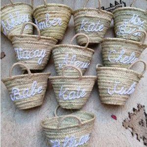 wedding gift monogrammed bag, straw bag, Personalized bag, customized beach bag, Bridal Party, wedding tote bag, Bridesmaid Gifts