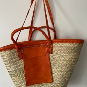 Handmade Moroccan straw handmade woven baskets