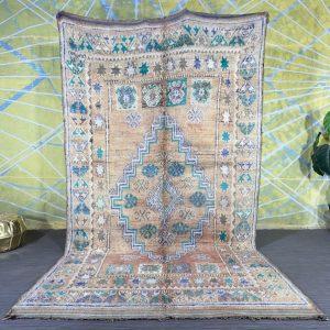 Berber Multicolored rug 5.6ft x 10.4ft Moroccan Rug, Boujaad rug, handmade rug, wool rug, berber carpet, bohemian rug, vintage moroccan rug