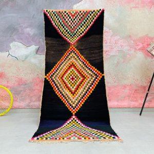 Authentic Moroccan runner rug 3x9 - Moroccan Boujad Rug - Berber tribal rug - Handmade Old Moroccan Rug - Berber carpet