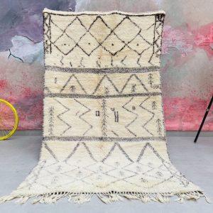 Fabulous Moroccan rug 4x8 - Authentic Moroccan Boujad Rug - Berber tribal rug - Handmade Old Moroccan Rug - Berber carpet - Bohemian rug