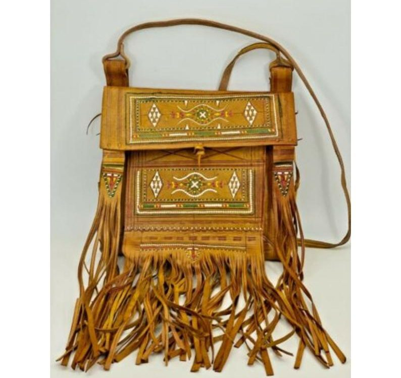 Handcrafted Moroccan Genuine Leather Fringes Bohemian Messenger Crossbody Bag