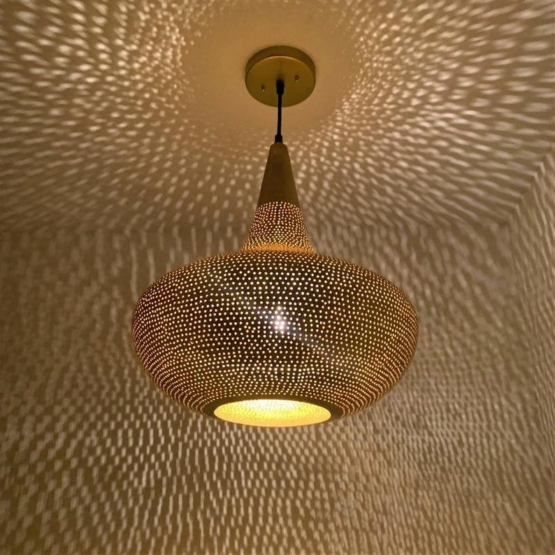 New Moroccan light fixture, Moroccan Pendant Light, Moroccan Lampshade Hanging Lamp Brass Filigree Handmade Lamp Home Decor
