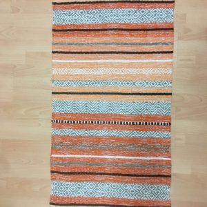 Orange Kilim Rug, Moroccan Rug, Moroccan Kilim Carpet, Tribal Floor Rug, Handmade Red Kelim, Boho Style Rug, 61 x 112 cm, one piece only