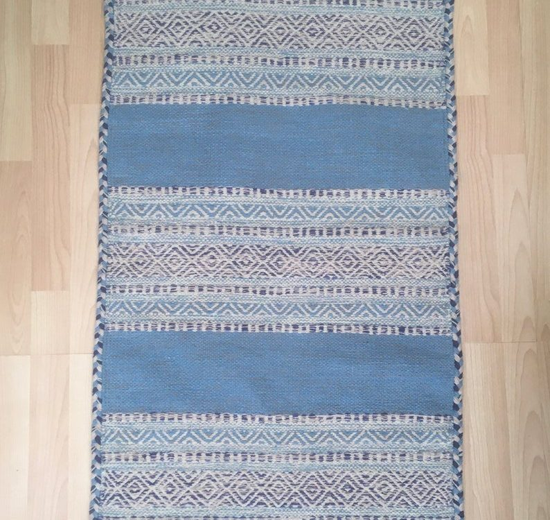 Blue Kilim Rug, Moroccan Rug, Moroccan Kilim Carpet, Tribal Floor Rug, Handmade Red Kelim, Boho Style Rug, 63 x 112 cm, one piece only