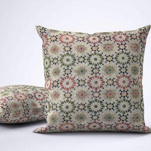 pink jacquard pillow cover