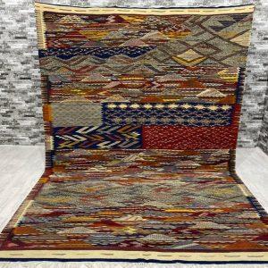 Fabulous Berber Kilim, Colorful Handwoven Rug, Home Decor, Moroccan Berber Rug, Free Shipping 216 X 318 Cm