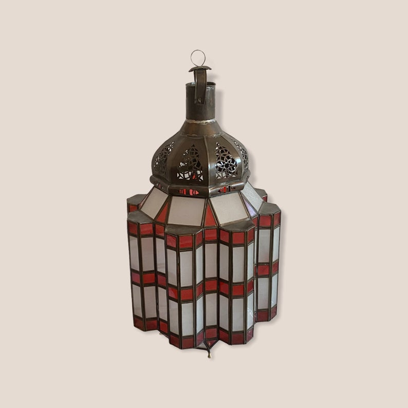 Outdoor Metal Stained Glass Chandelier