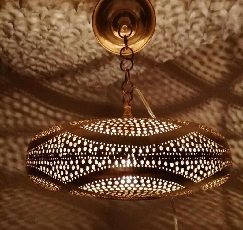 Moroccan Pendant Light, Arabian Golden Moroccan Lamps Ceiling Lights Home Lantern, 100% handmade Moroccan lighting