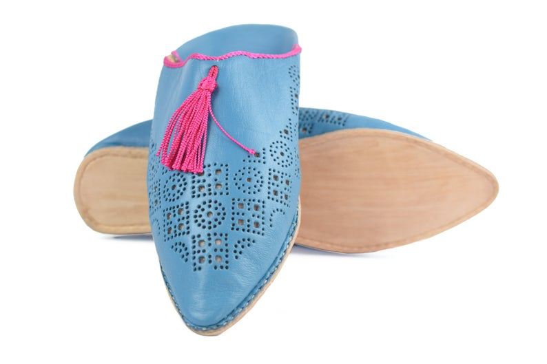 Moroccan babouche, Tassels Slippers Women, Wedding slippers, colorful summer shoes, Genuine leather babouche