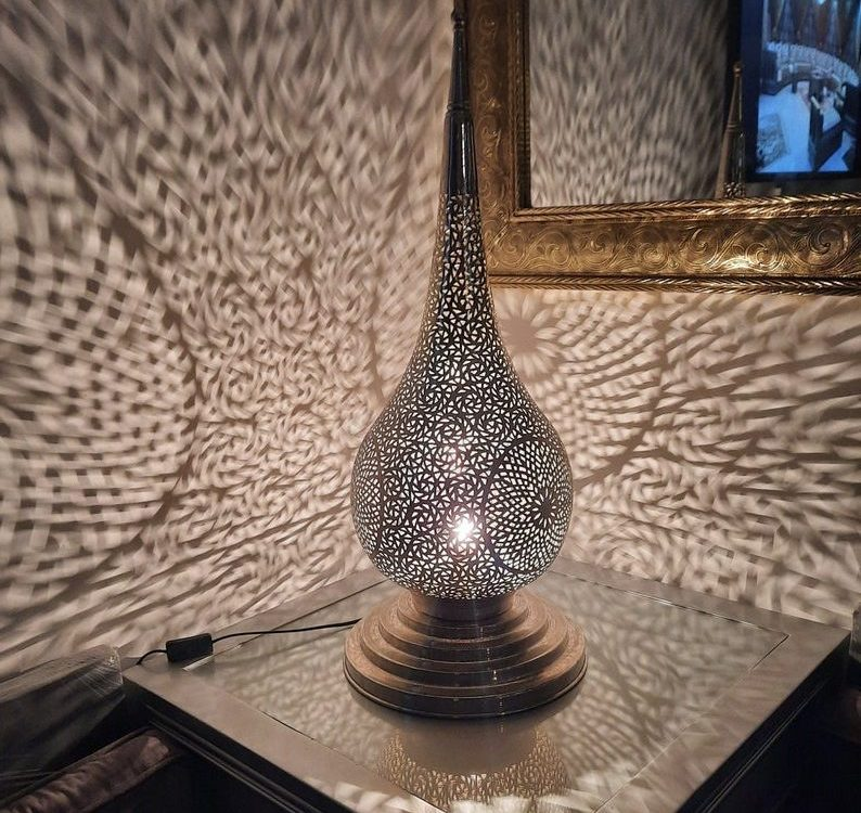 Moroccan Table Lamps -Silver-