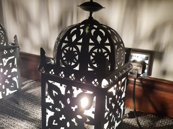 Black Lantern Style Table Lamps, Table lamp, Mosaic lamp, Glass lamp, Turkish, Moroccan, Lighting, Best Gift, Home Decoration, Table Top, Violet
