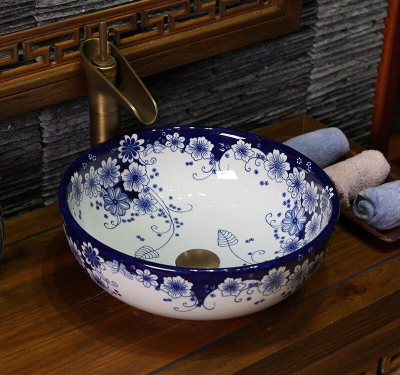 Handmade Flower Shape Sink