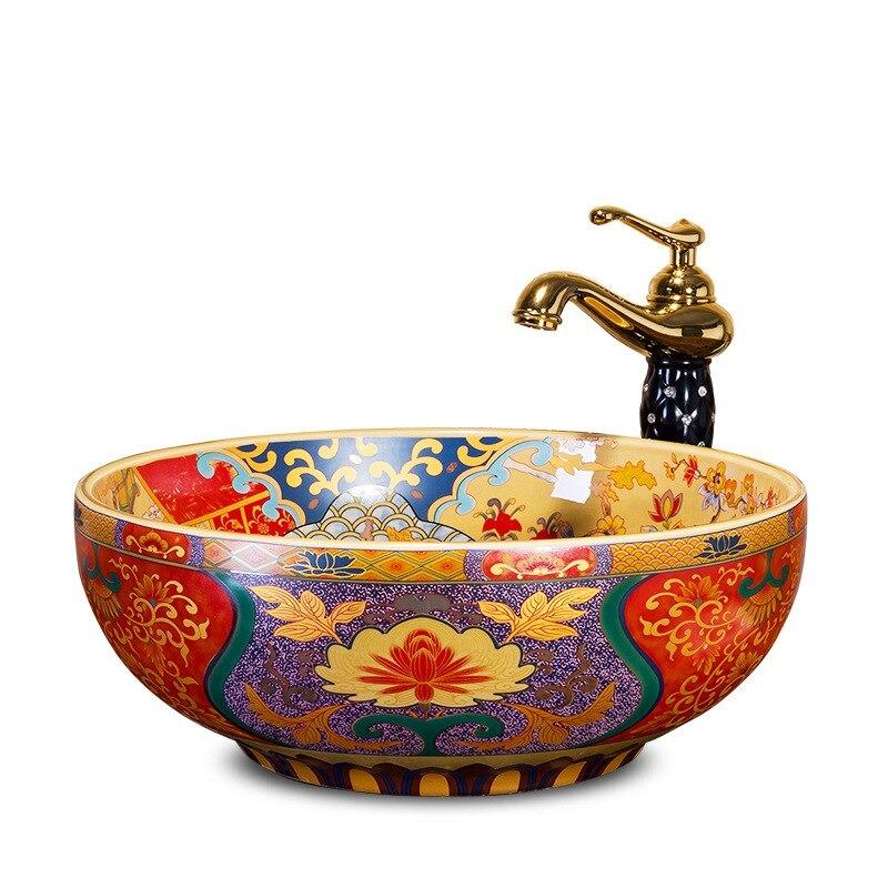 Moroccan Style Bathroom Sink
