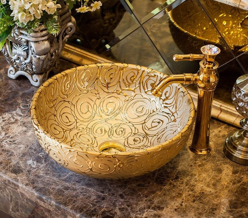 ceramic bathroom sink backsplash