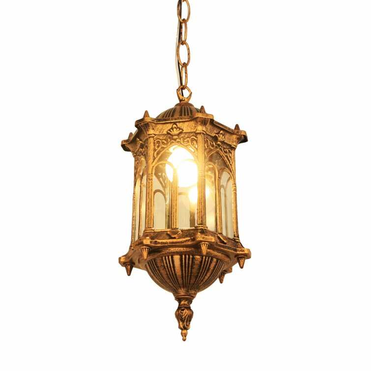 Classic Cage Design Chandelier, Glass Lampshade, Height Adjustable.