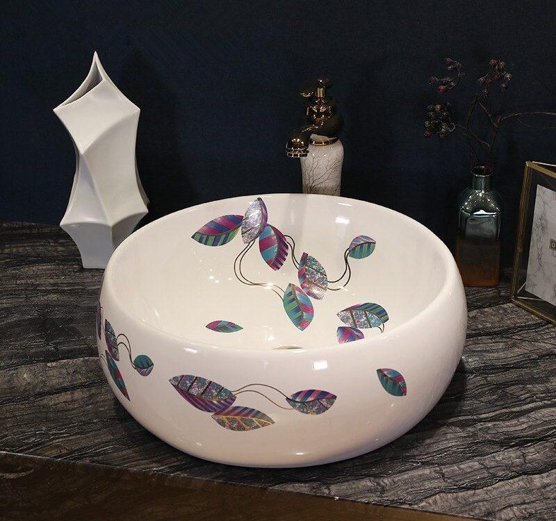 Handmade Europe Vintage Style Lavobo Ceramic