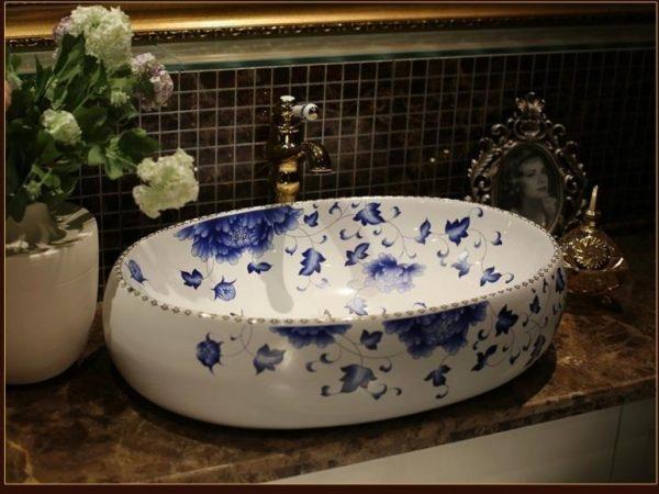 Moroccan Oval Bathroom | Oval Moroccan Sink