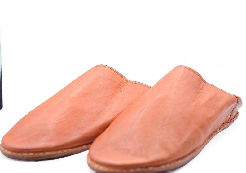 Berber Morocco Slippers, Leather house Slippers, Moroccan shoes, babouche slippers men, sheepskin slippers men