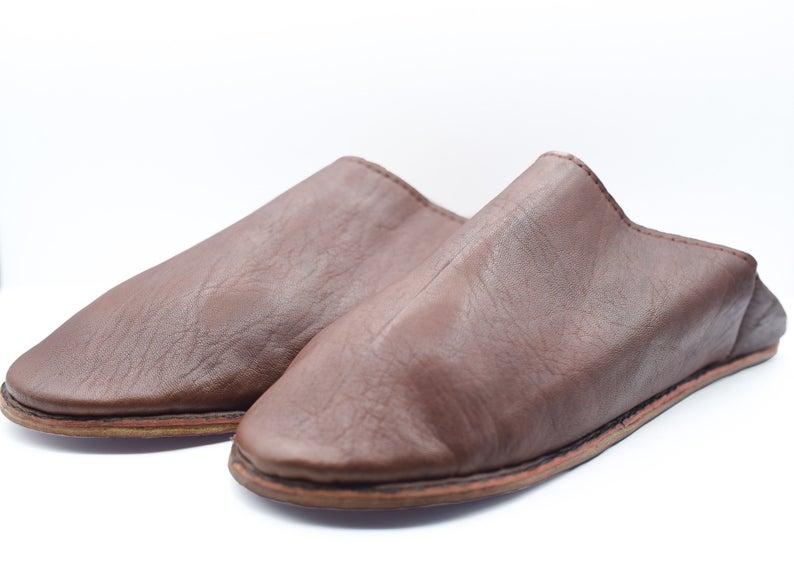 Man sheepskin slipper, Morocco leather slipper, Moroccan shoes mule soft sole