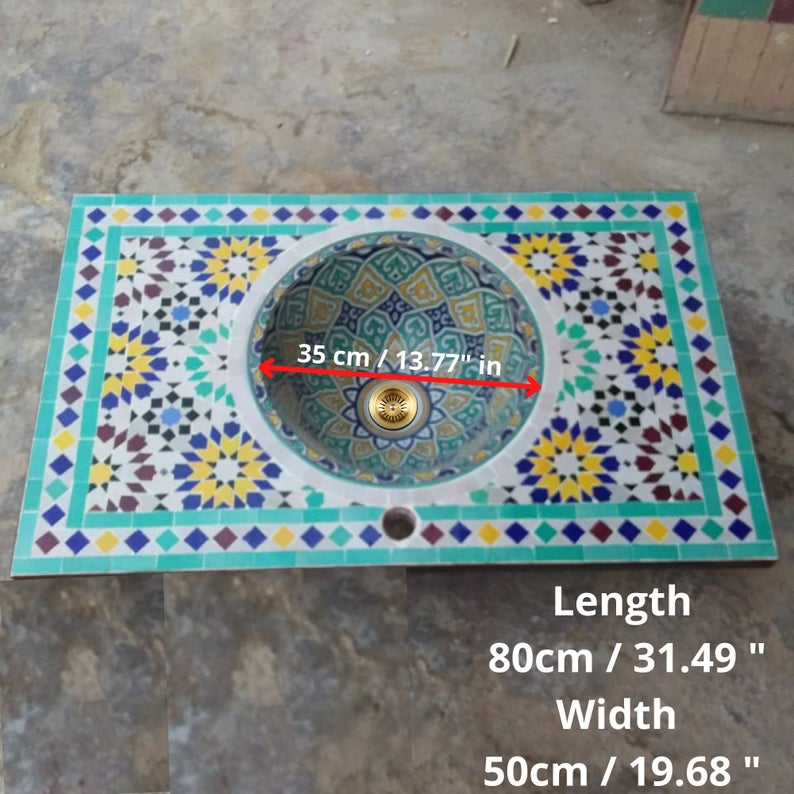 Hand Painted Moroccan Sinks